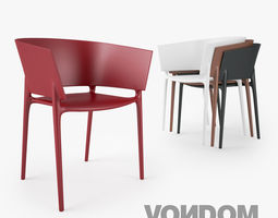 3d model vondom africa silla chair