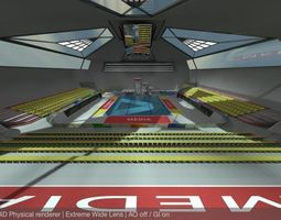 Diving Centre Sport Complex READY TO RENDER 3D asset