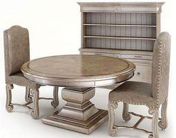 3D model Classic Dining Room Furniture Set