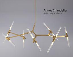 agnes chandelier - 14 bulbs by lindsey adelman 3d