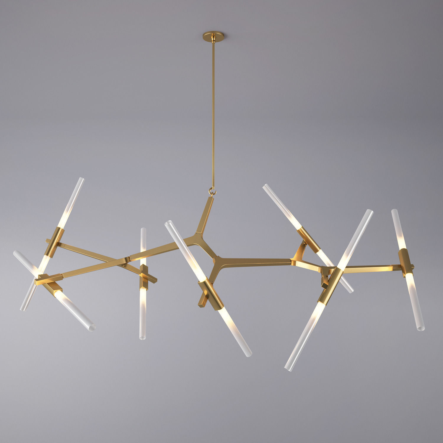 Agnes Chandelier - 14 Bulbs By Lindsey Adelman 3D model MAX OBJ FBX MTL