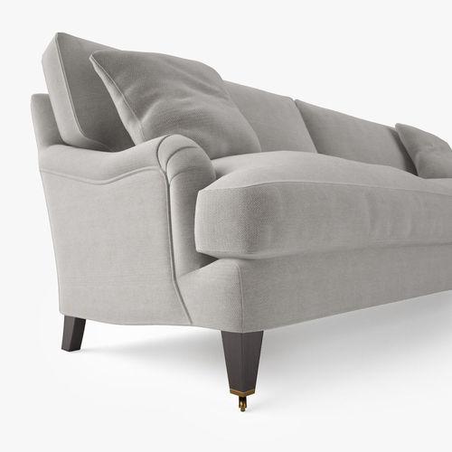 ... Crate And Barrel Essex Sofa With Casters 3d Model Max Obj Fbx Mtl 8 ...