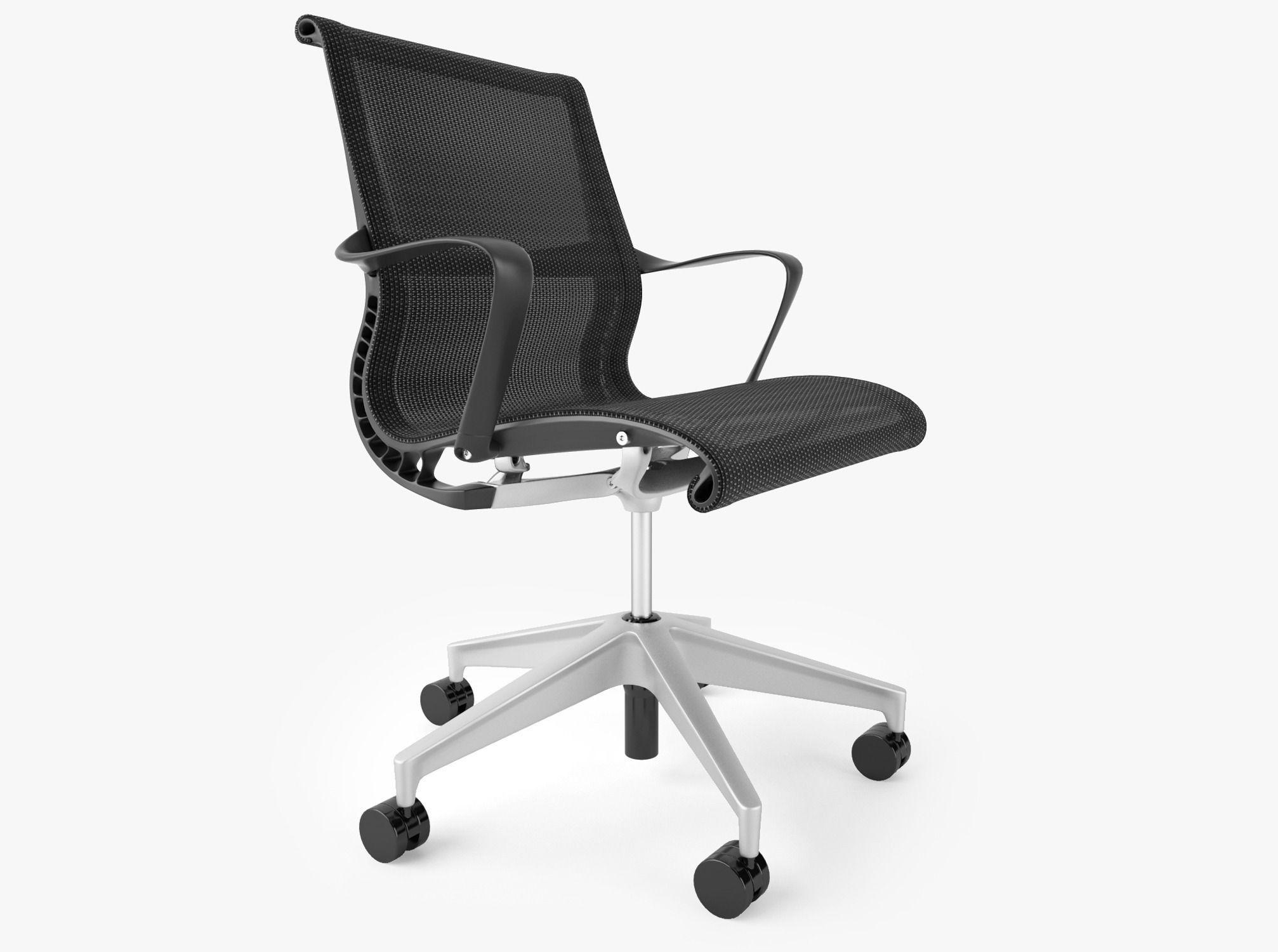 Herman Miller Setu Office Chair Model Max Obj Mtl Fbx 1