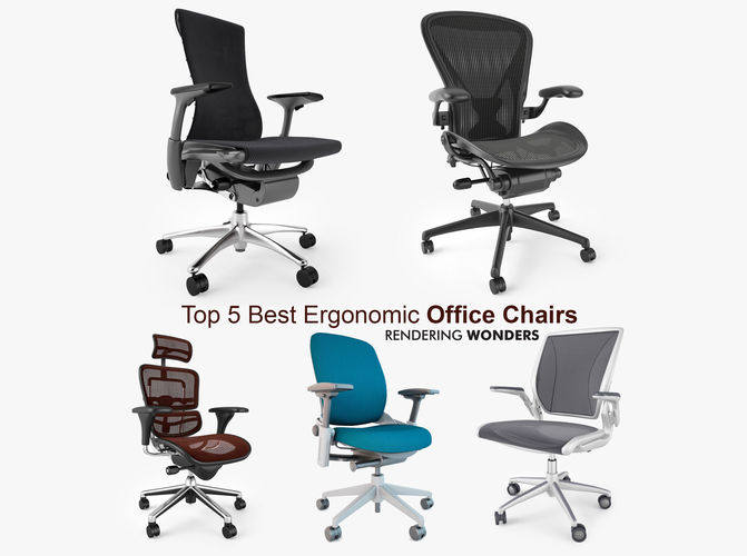 Top 5 Best Ergonomic Office Chairs 3d Model Max Obj Mtl Fbx 1 ...