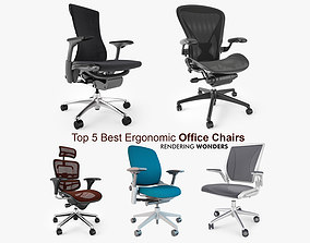 Top 5 Best Ergonomic Office Chairs 3D