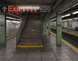 nyc subway station 3d model max obj 3ds fbx c4d lwo lw lws