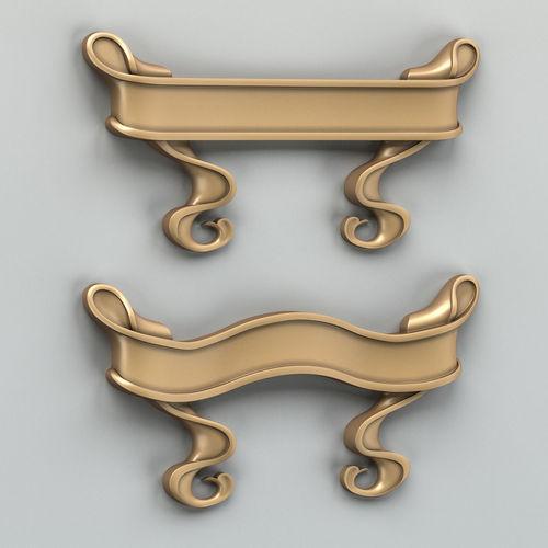 decorative ribbon 003 3d model max obj fbx stl 1