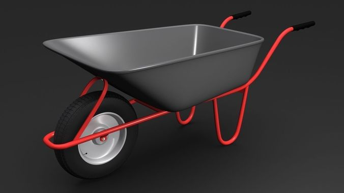 wheelbarrow1 3d model max 1