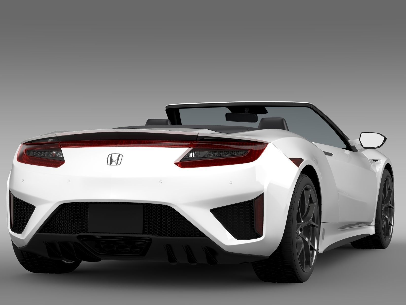 honda nsx cabriolet 2017 3d model max obj 3ds fbx c4d lwo lw lws. Black Bedroom Furniture Sets. Home Design Ideas