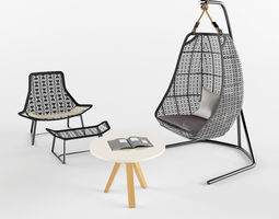 Garden Furniture Lounge 3D