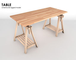3D model rigged Table