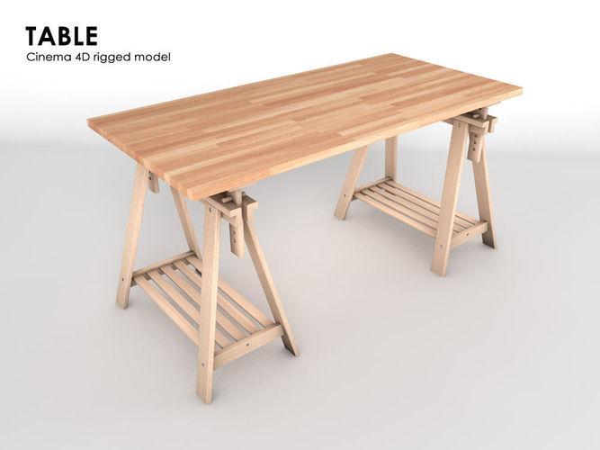 table 3d model rigged obj 3ds fbx c4d 1