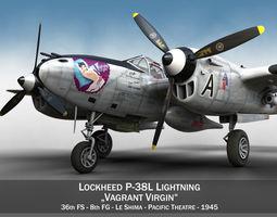 Lockheed P-38 Lightning - Vagrant Virgin 3D Model