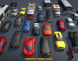VR / AR ready 3d asset complete vehicle pack v1