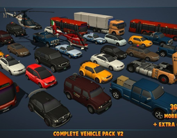 realtime 3d asset complete vehicle pack v2