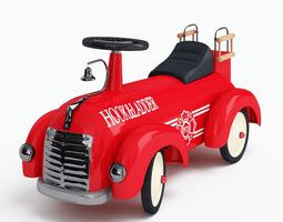 Red Toy Truck 3D Model