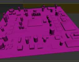 3D Motherboard Plate Vray