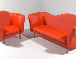 3D model Sofa Set - Type 2