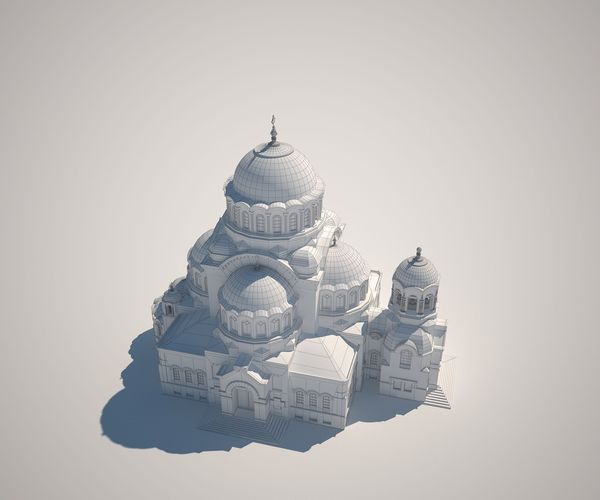 shrine of our lady 3d model max obj fbx mtl 1