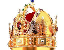 Royal crown 3D model jewel