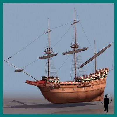Mayflower 3d Model Max