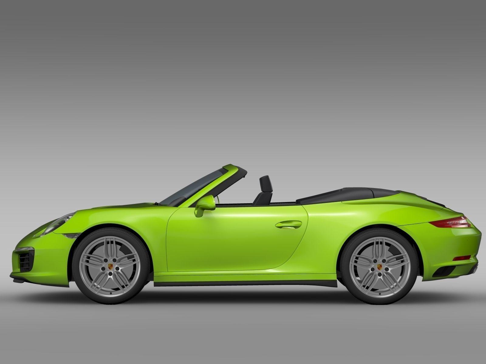 Porsche 911 Carrera 4s Cabriolet 991 2016 3d Model Max Obj 3ds Fbx C4d Lwo