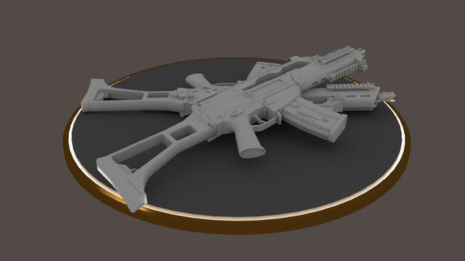 g36c carbine rifle hi-res 3d model obj mtl 1