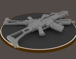 G36C carbine rifle Hi-Res 3D Model