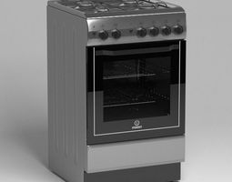 gas stove indesit 3D