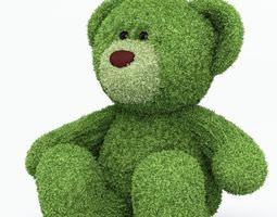 3d model green teddy bear