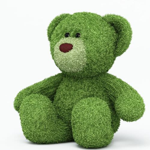 Green Teddy Bear3D model