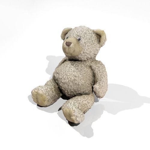 teddy bear 1 3d model low-poly max obj mtl fbx 1