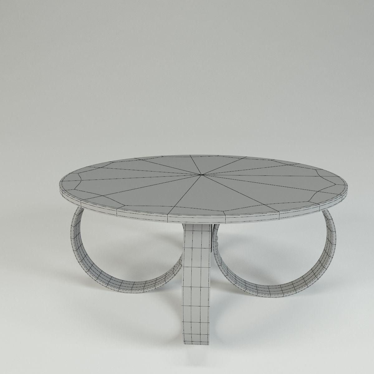 ... Circle Table 3d Model Max Obj 3ds Fbx 4