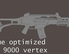 3D model G36C carbine rifle Low-Res
