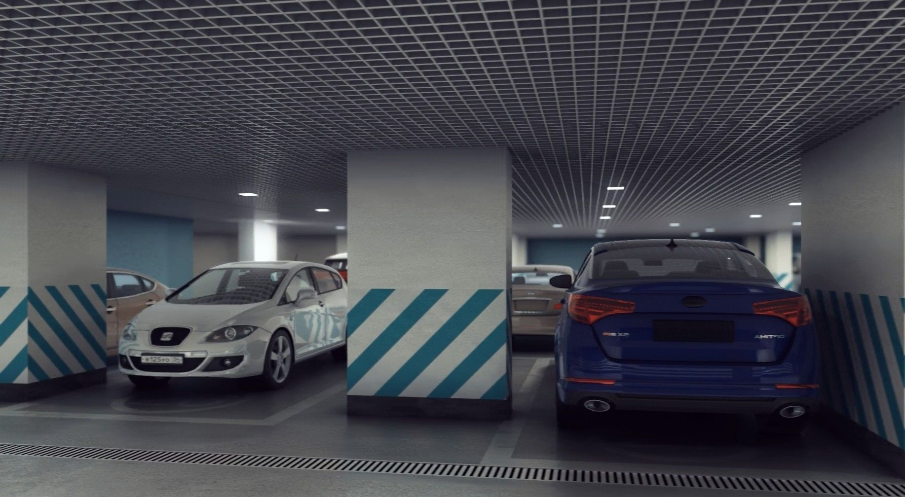 Underground Parking | 3D model