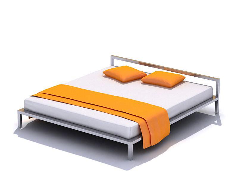 Modern Metal Bed 3D Model - CGTrader.com