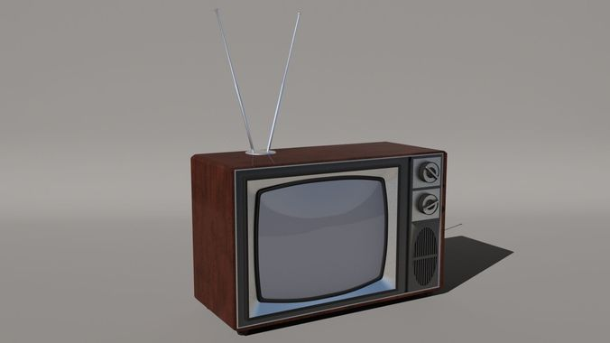 Old Style Vintage Tv 3d Model Max 1