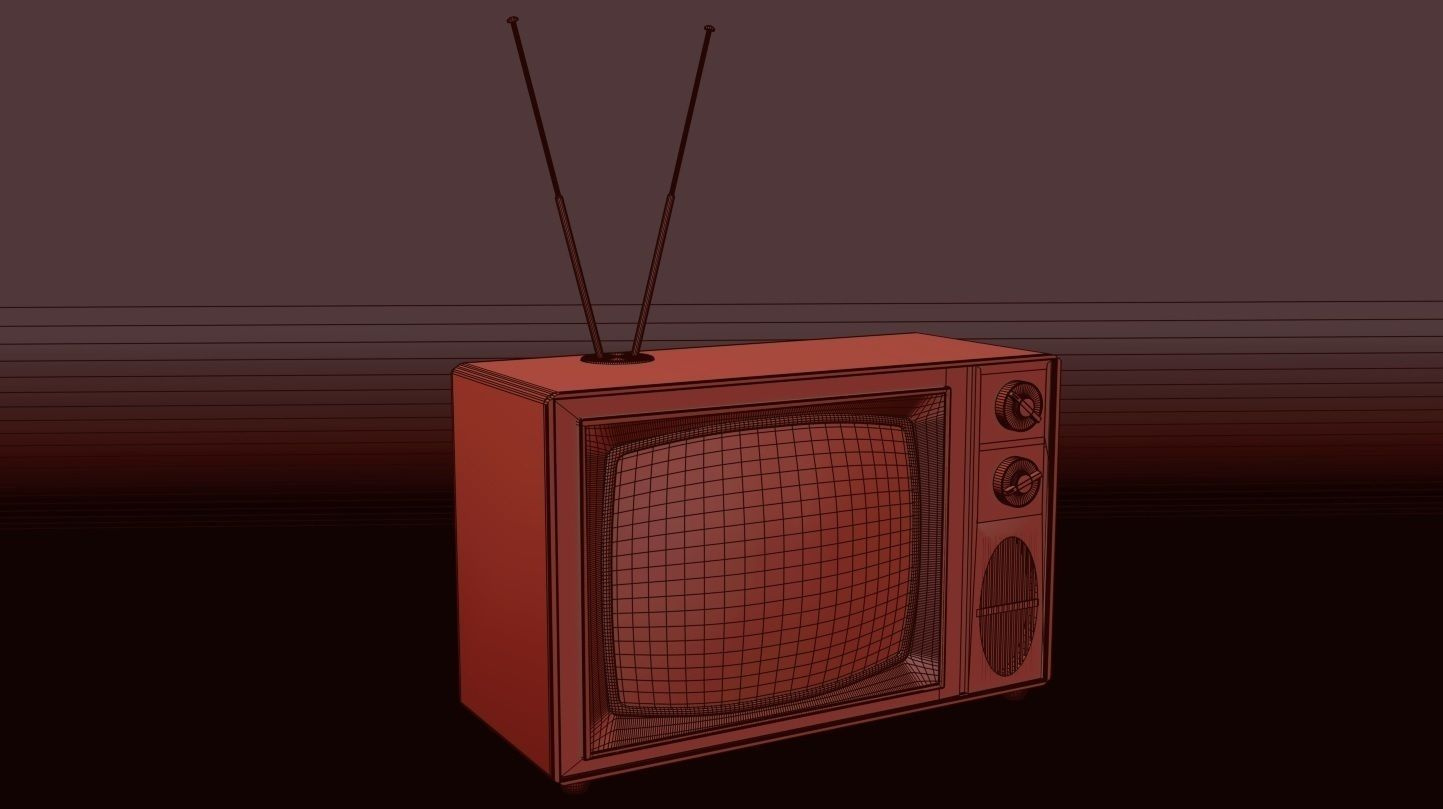 Old Style Vintage Tv 3d Model Max 2
