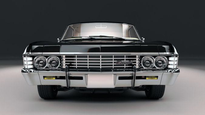 chevrolet impala ss 1967 3d model max obj mtl fbx stl 1