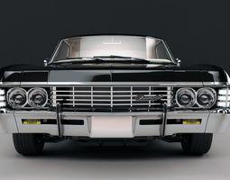 chevrolet impala ss 1967 3d model max