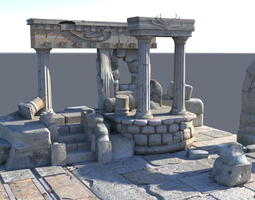Detailed Temple Ruins 3D model