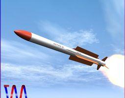 Astra BRVAAM Missile 3D asset