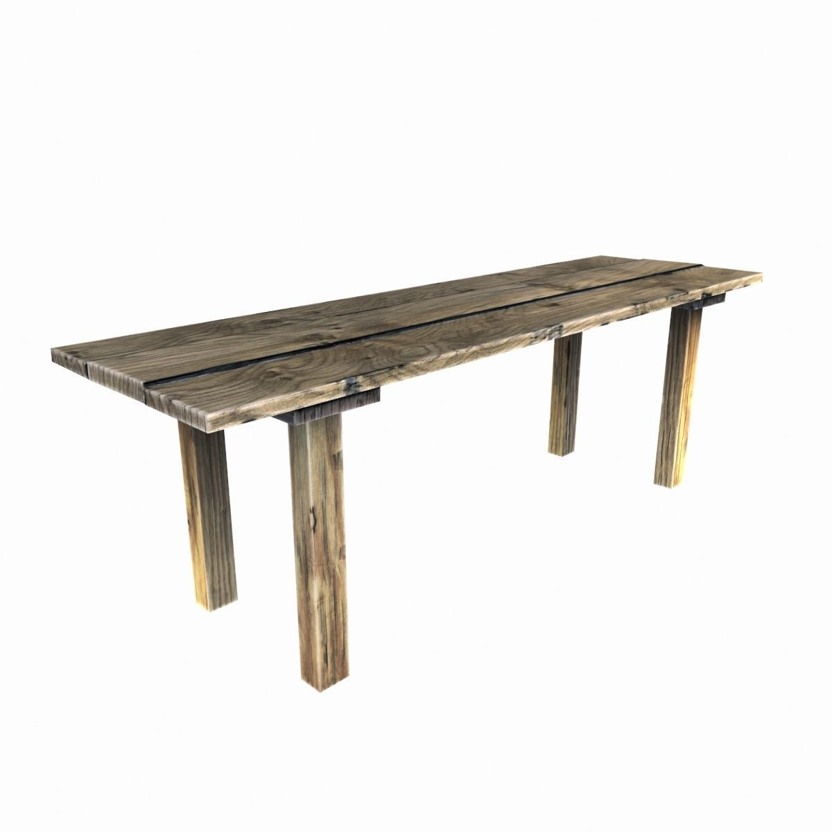 3d asset old wooden table cgtrader