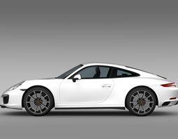 3d model porsche 911 carrera 4s coupe 991 2016