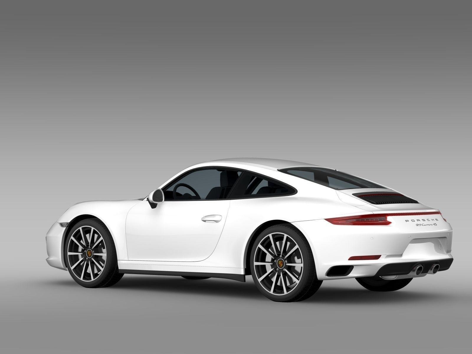 porsche 911 carrera 4s coupe 991 2016 3d model max obj 3ds fbx c4d lwo lw lws. Black Bedroom Furniture Sets. Home Design Ideas