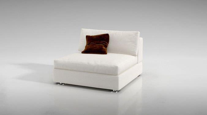 White Modern Sofa3D model