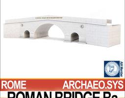 roman bridge ba 3d model