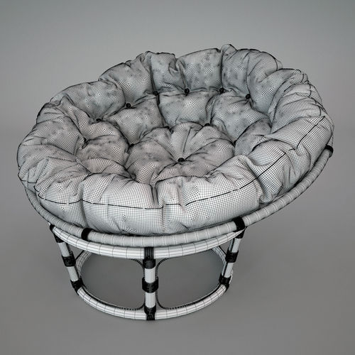 Chair papasan 3d model max for Large papasan chair