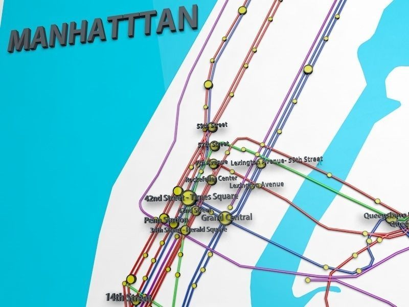 Official Ny Subway Map.New York City Not Official Subway Map 3d Model
