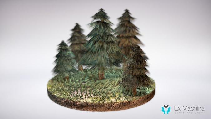 low poly tree 3d model obj c4d 1